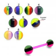Multi Colored UV Acrylic Rasta Balls