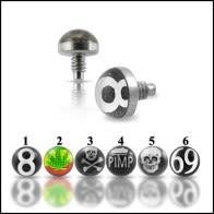 Logo Dermal piercing Tops