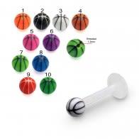 UV Labret With Beach Ball UV Acrylic Tongue Rings