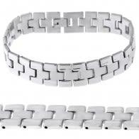 Stainless Steel Plain Mens Bracelet