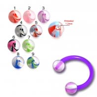 UV Acrylic Circular Barbell with UV Balls