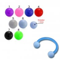 Assorted Color UV Circular Barbell With Ball Piercing jewelry