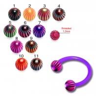 UV Circular Barbell With UV Stripe Printed Balls