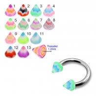 UV Fancy Colorful Mvlti Layer Triangles Cone
