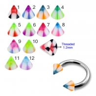 UV Fancy Colorful Chcker Cone