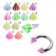 Mixed Color UV Fancy Cones