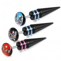 Blackline Steel Fake Ear Plug