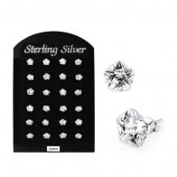 3MM CZ Flower Ear Stud in 12 pair Tray