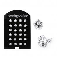 4MM CZ Flower Ear Stud in 12 pair Tray