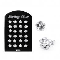 5MM CZ Flower Ear Stud in 12 pair Tray