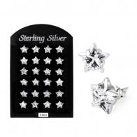 5MM CZ Star Ear Stud in 12 pair Tray