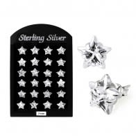 7MM CZ Star Ear Stud in 12 pair Tray