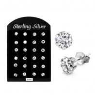 5MM CZ Round Ear Stud in 12 pair Tray