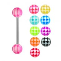 Tounge Barbells with UV Balls