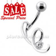 Fancy Jeweled Navel Belly Bar CLER081