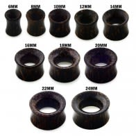 Organic Dark Palm Wood Ear Plug Gauges