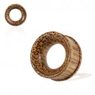 Organic Coco Wood Ribbed Edge Tunnel Ear Plug Gauges