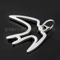 Flying Bird Stainless Steel Casting Pendant