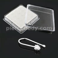 925 Sterling Silver Flower Nose Clip in 20pcs Box