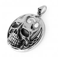Stainless Steel Burning Skull Pendant