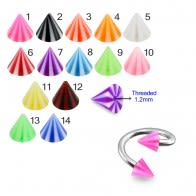 Twisted Barbell With UV Colorful Beach Ball