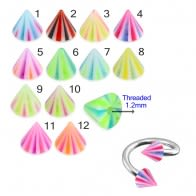 Twisted Barbell with UV Fancy Cones