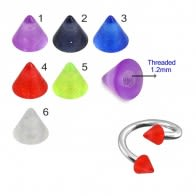 UV Fancy Colorful Transperant Cone
