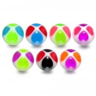 UV Flower Heart Balls