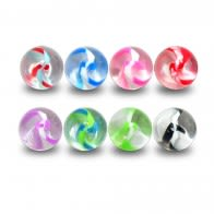 UV Acrylic Balls Fancy Mix Color Glitter