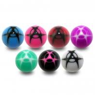 Fancy Multi Design Colorful UV Ball Bead Lip Chin Balls