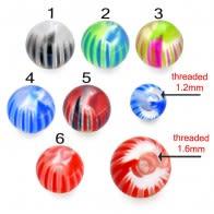 UV Mix Multi Design Fancy Colorful Piercing Balls