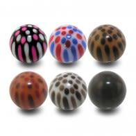 Lip Eyebrow Tongue Bar Piercing Fancy Ball Body Jewelry