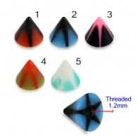 UV Fancy Colorful Long Star Cone Accessories