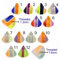 UV Fancy Colorful Vertical Strip Cone Accessories