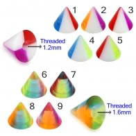 UV Fancy Colorful Transparent Triangles Cone Accessories