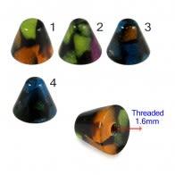 UV Fancy Colorful Dark Mable Cone Accessories
