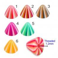 UV Fancy Colorful Multi Strip Cone Accessories