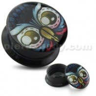 Owl Eyes UV Internal Screw Fit Ear Tunnel
