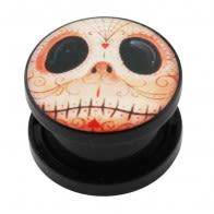 Mr. Jack Logo UV External Screw Fit Ear Flesh Tunnel Gauges