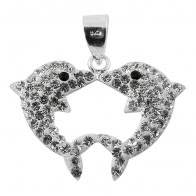 Crystal stone Dolphin Pendent