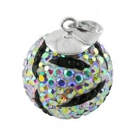 Multi Mix Crystal stone Silver Zebra Pendent Body Jewelry