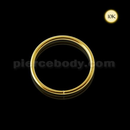 10K Yellow Gold Seamless Nose and Tragus Hoop Ring