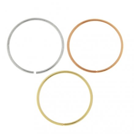 Box of 14K Gold 10mm Seamless Continuous Nose Hoop Ring