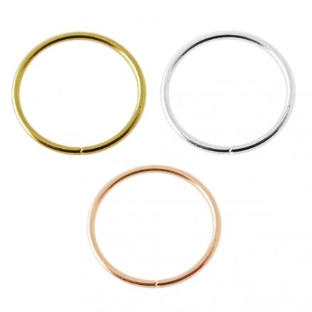Box of 14K Gold 8mm Seamless Continuous Nose Hoop Ring
