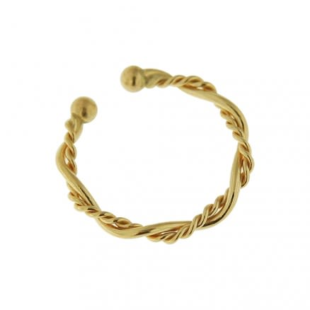 9K Yellow Gold Twisted Circular Septum Ring
