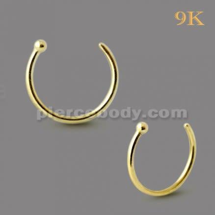 9K Gold  Hoop Nose Ring - Open Type