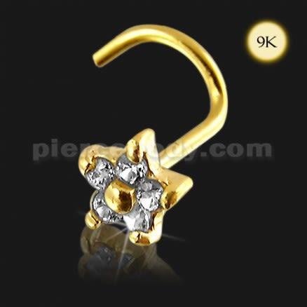 9K Gold Flower Nose Screw