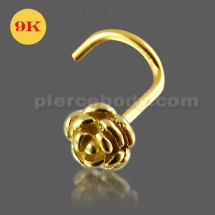 9K Gold Rose Nose Screw