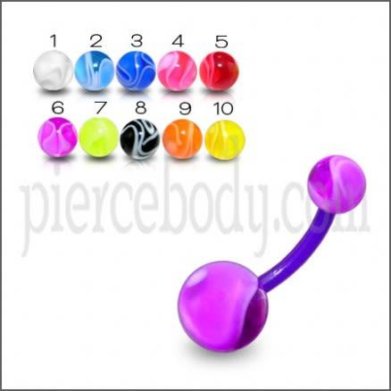Mix Color UV Navel Banana with UV Balls BAN454