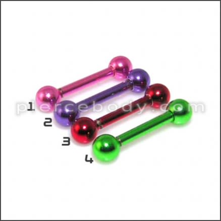 Anodised Eyebrow Body Jewelry Straight Barbell